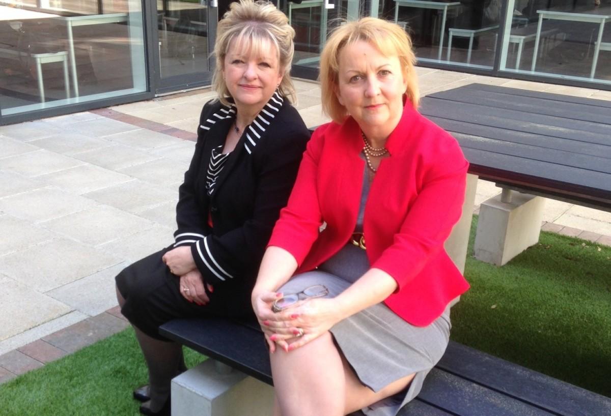 Shirley Edwards and Caroline Blake