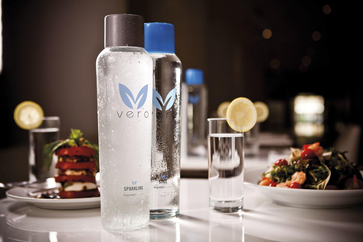 Vero Bottles on table