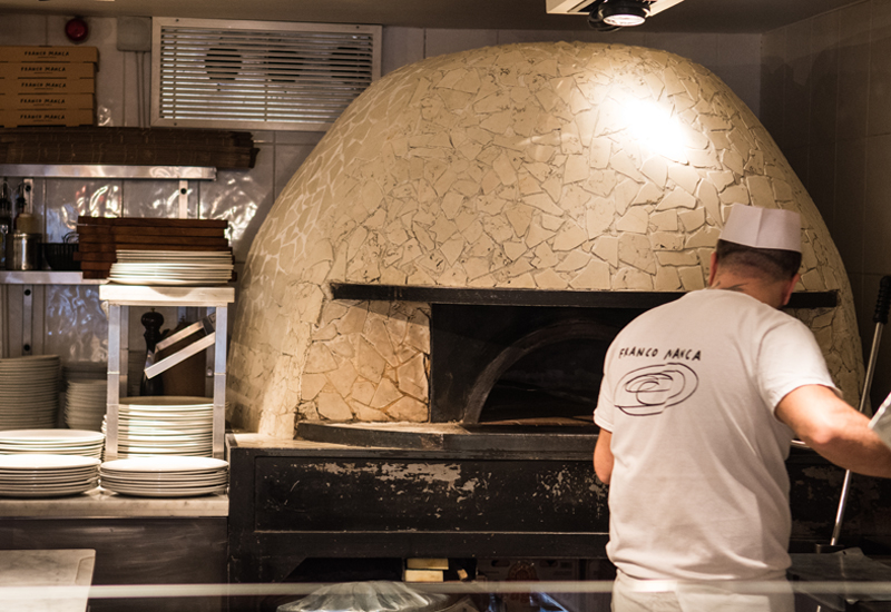 Franco Manca wood-fired oven