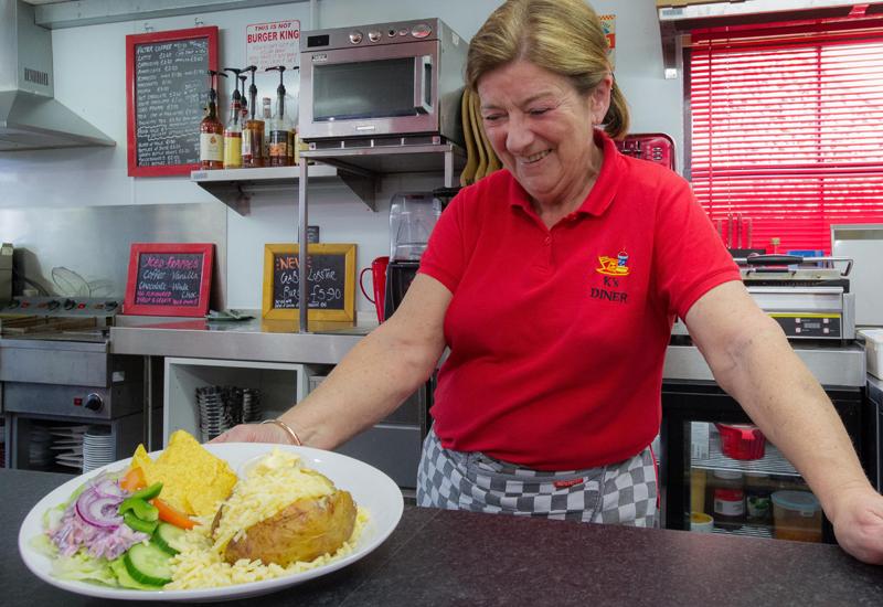 Kay Gelder, owner, K's Burger Bar