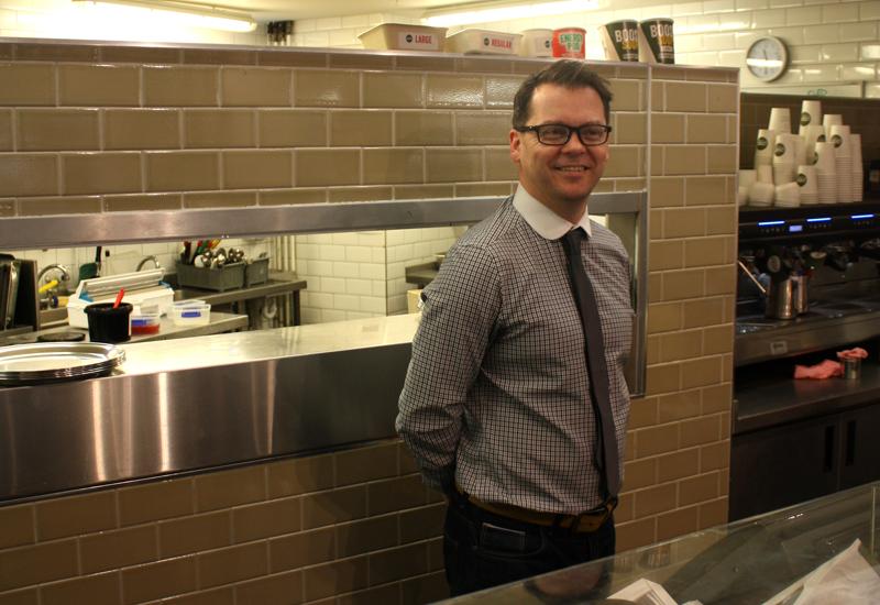 Sean Burlinson, food director, Pod 2
