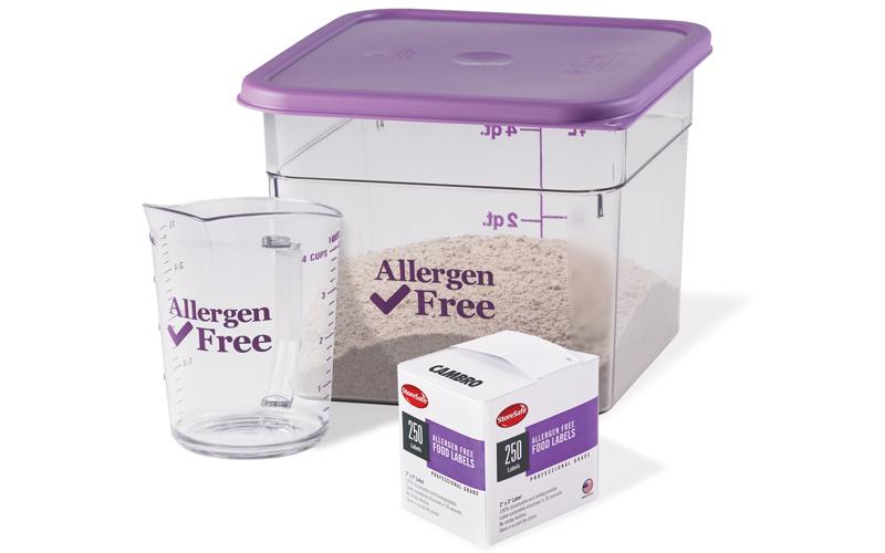 Cambro allergen-free range