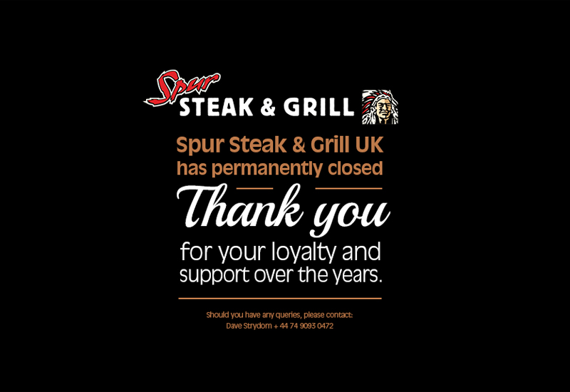 Spur Steak & Grill website