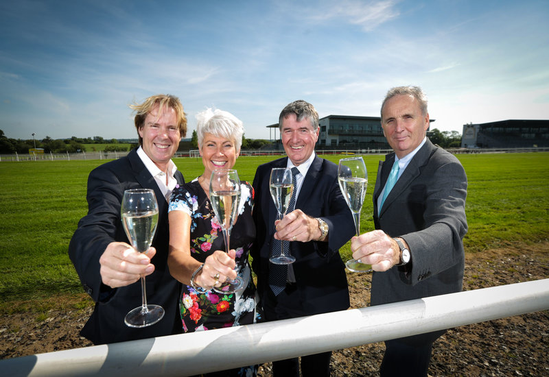Mike Todd, general manager, Down Royal; Pamela Ballantine, chair of the Hospitality Committee, Down Royal; Trevor Annon, chairman, Mount Charles; and Jim Nicholson, chair, Down Royal