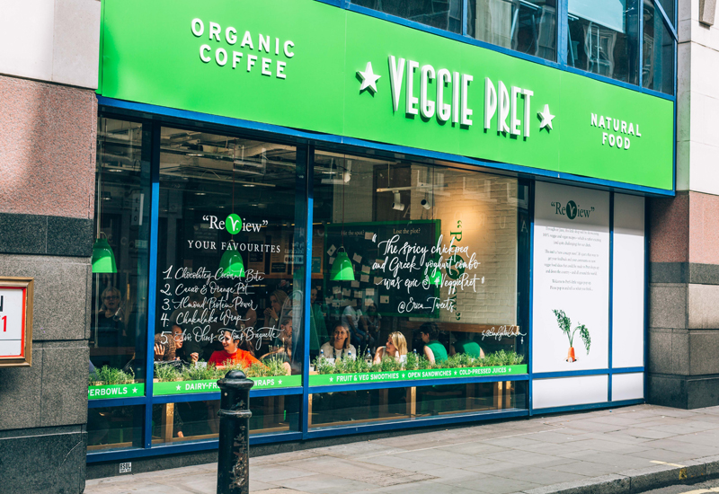 Pret A Manger veggie store