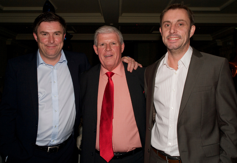 Alan Osborn (centre) with sons Barry Osborn and Jon Osborn