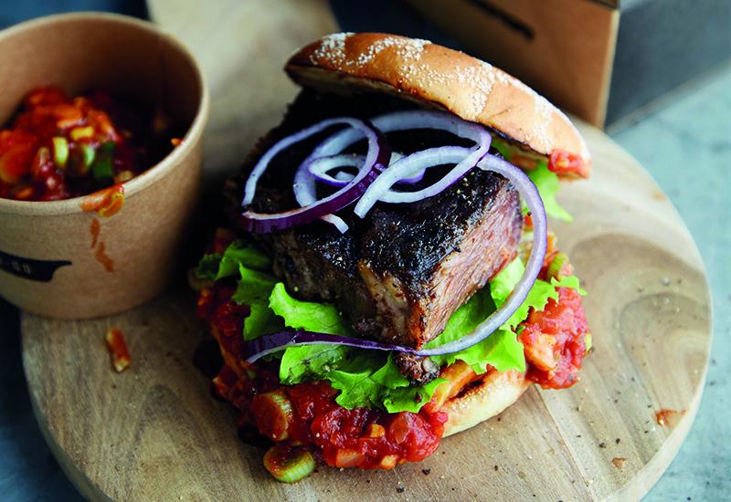 Braised beef brisket street food (Image credit: Santa Maria Foodservice