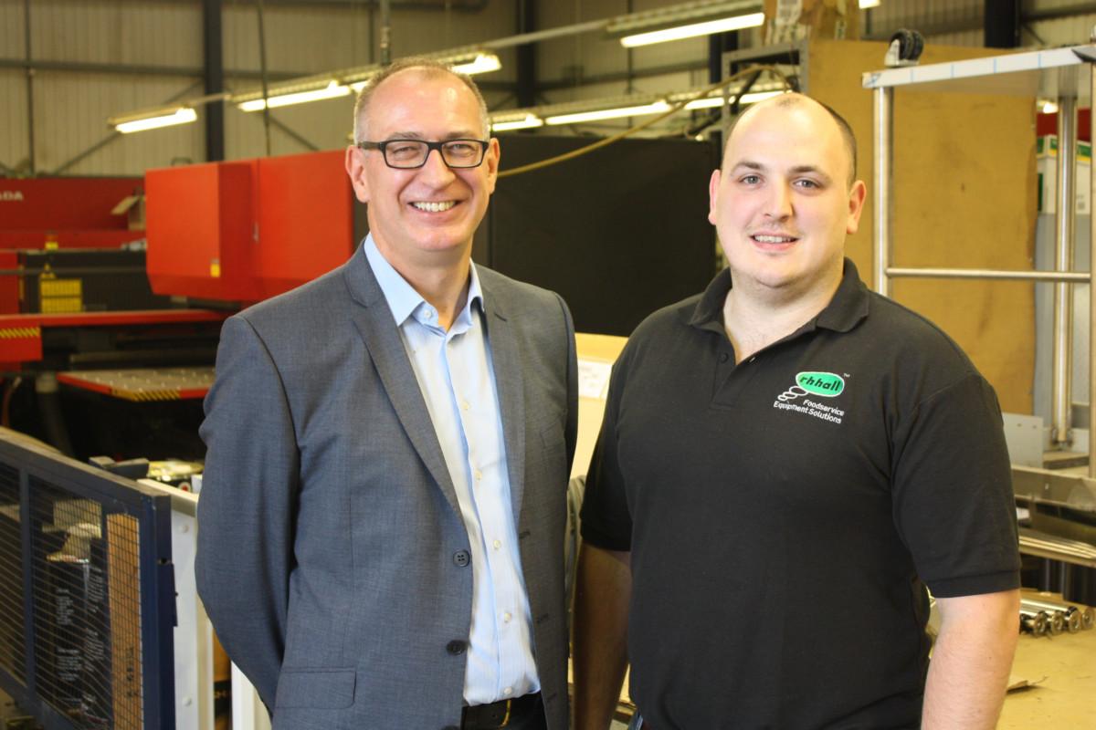 Kevin Shepherd, general manager, RH Hall Fabrication & Adam Hall, bespoke solutions manager, RH Haller