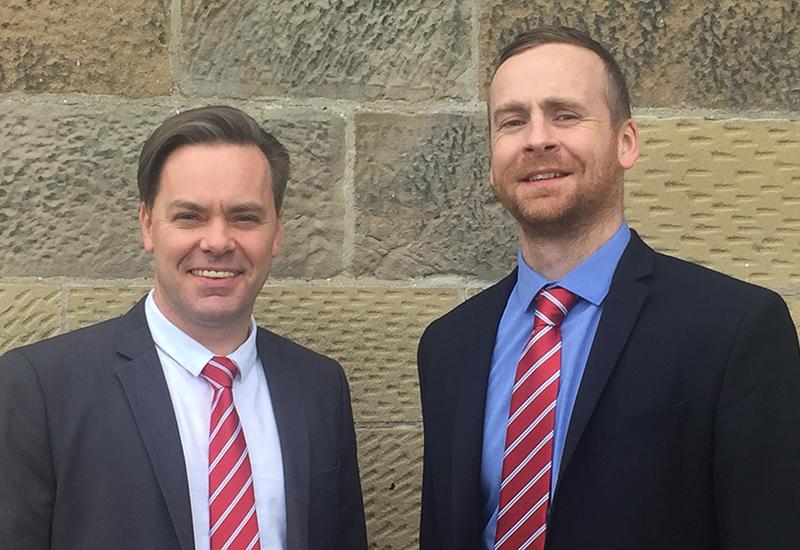Scott Hayward, regional sales manager for north east England & Paul Burrows, regional sales manager, Scotland