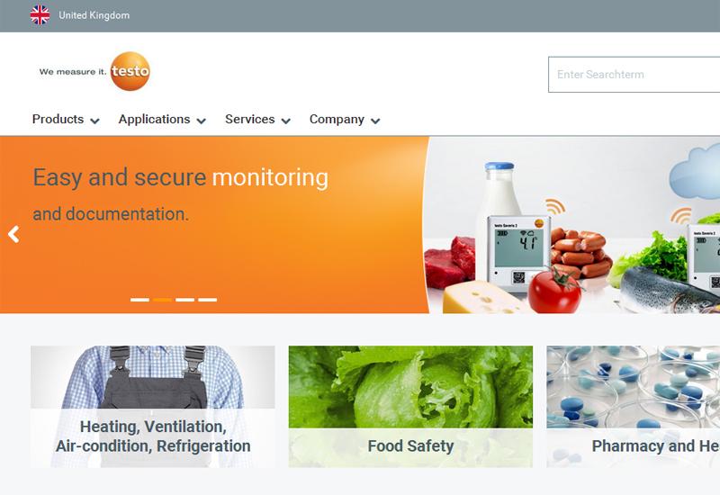 Testo website