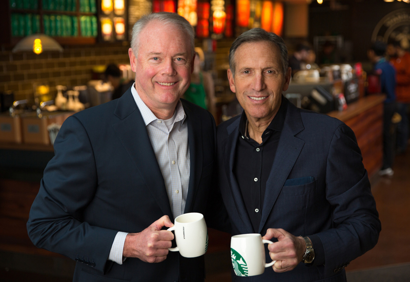 Howard Schultz, executive chairman & Kevin Johnson, president and CEO