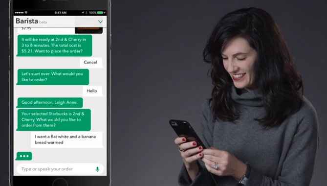 Starbucks digital voice ordering