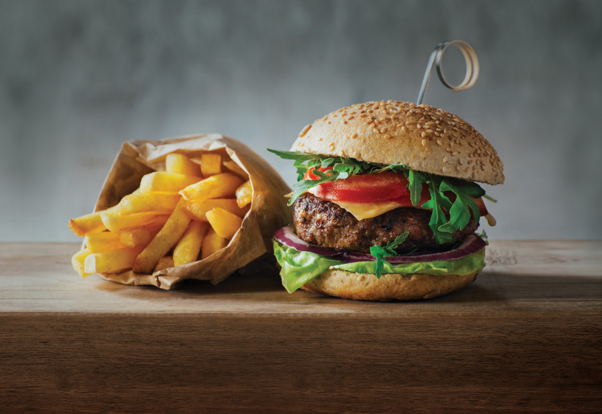 Burger ansd chips