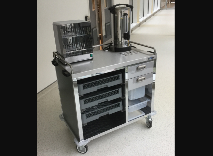 Moffat bespoke breakfast foodservice trolley at Ulster Hospital, Belfast