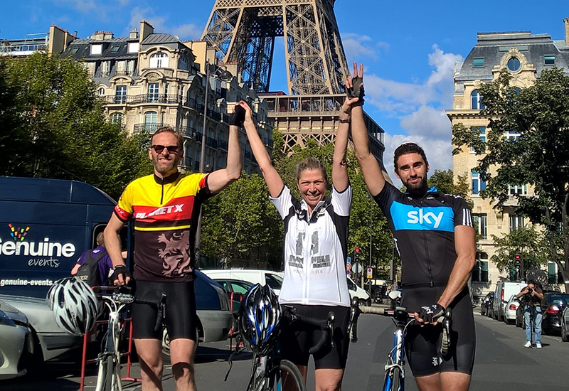 Chris Birch, Team Velo London to Paris Cycle Challenge