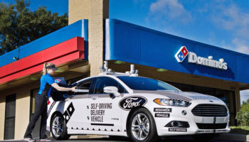 Domino's self-driving delivery vehicle