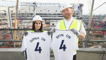 Dipna Anand and Bryn Williams at Tottenham Hotspur FC