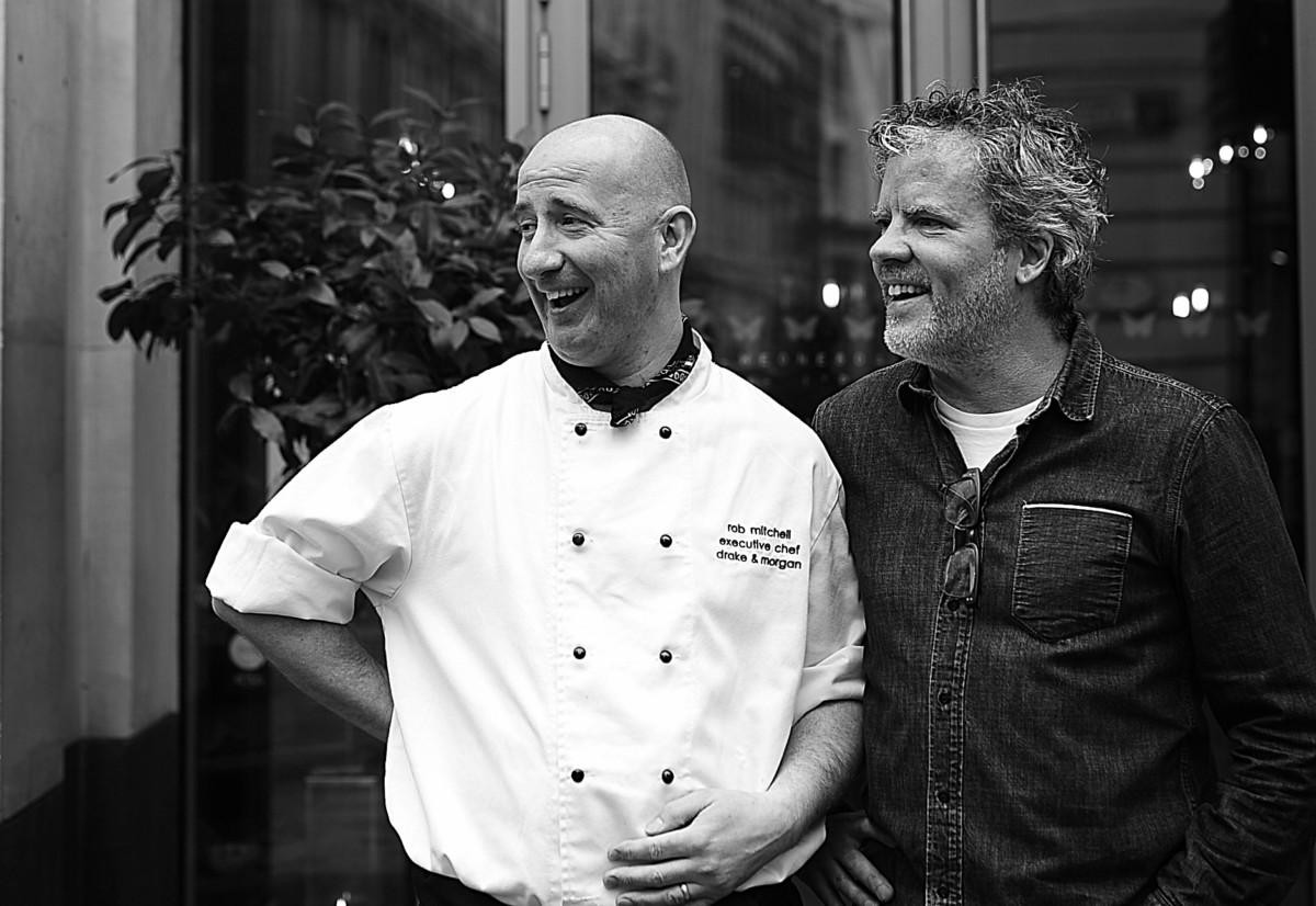 Robert Mitchell, executive chef at Drake & Morgan and Peter Gordon