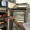 Freelance chef Alan Evans with the Vector oven