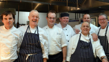 Frank Coughlan, executive head chef (second left)