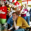 England supporters in pub