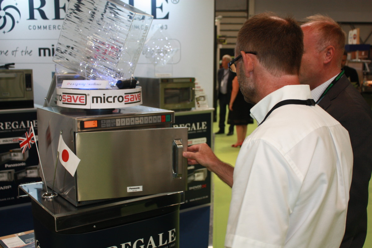Regale Microwave Ovens stand at Commercial Kitchen 2018