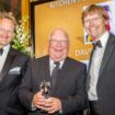 David Gadsby of the National College for High Speed Rail collects 'Kitchen Porter of the Year' award from BaxterStorey