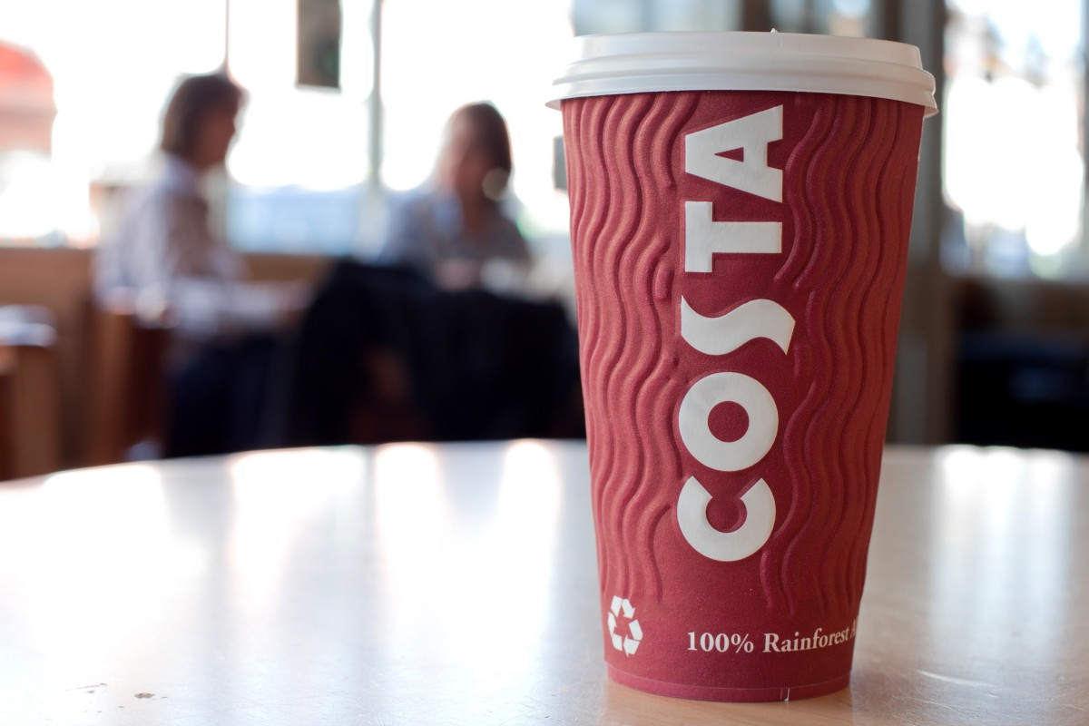 Costa takeaway cup