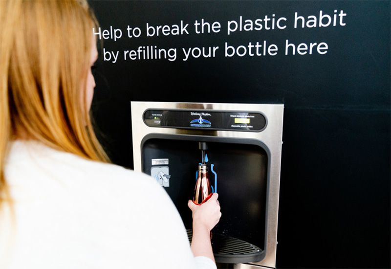 Canary Wharf water refill station