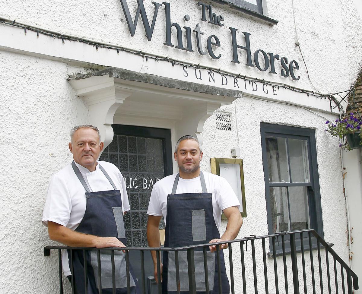 Simon and Dan Barton, The White Horse, Sundridge, Kent