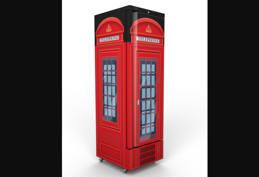 Jade J300 telephone box fridge
