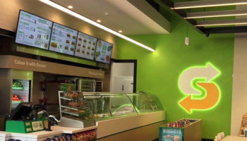 Subway store with Fresh Forward branding