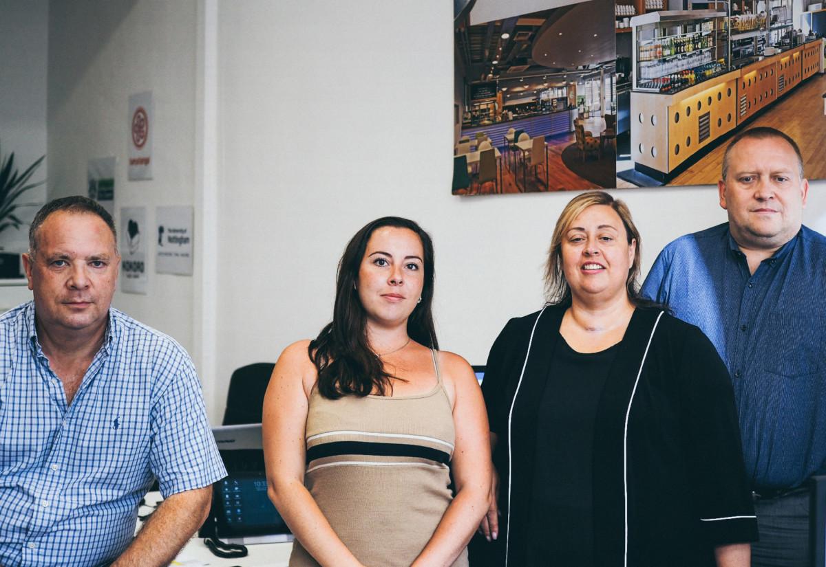 Geoff Riches, Rachel Roe, Anna McNamara, Catering Equipment Solutions (Peterborough) and Mark Camm