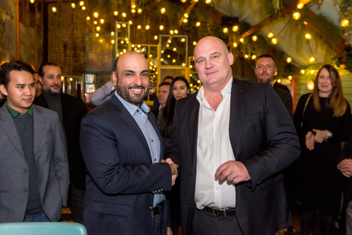 Sultan Ali Rashed Lootah, chairman and managing director of RELAMInvestment and Steve Richards, CEO, Casual Dining Group