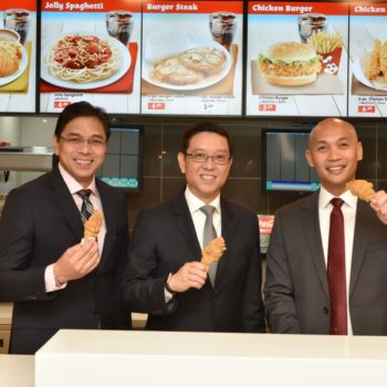 Dennis Flores, president and head of international business EMEAA; Ernesto Tanmantiong, president and CEO; and Dondi Gomez, chief marketing officer
