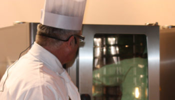 Chef and oven