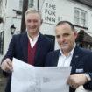 Sefa Memetovic and Ian Ellis of SI Leisure Group, outside The Fox in Steventon