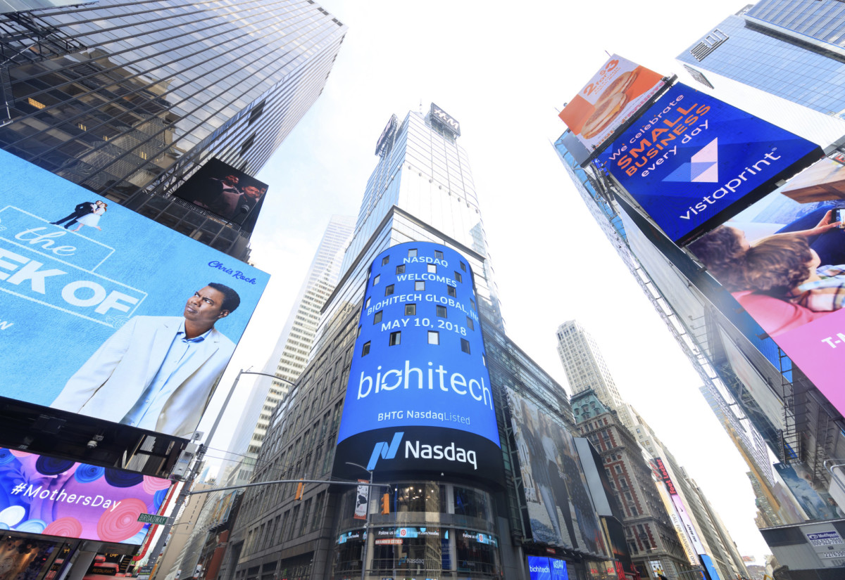 BioHiTech Global, Times Square, New York
