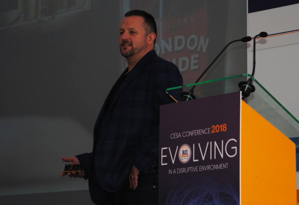 Paul Dickinson, head of food, at CESA Conference 2018