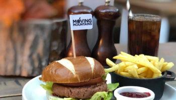 Moving Mountains meatless bleeding burger