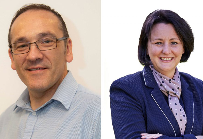 Colin Wills, operations director for secondary schools and Verity Butcher, operations manager for London primary schools, Principals by CH&CO