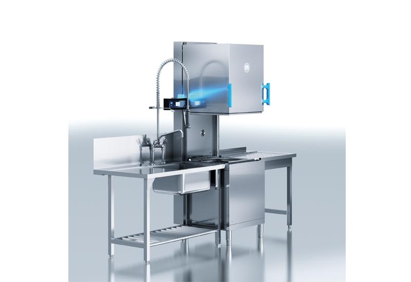 Meiko M-iClean H hood-type dishwasher