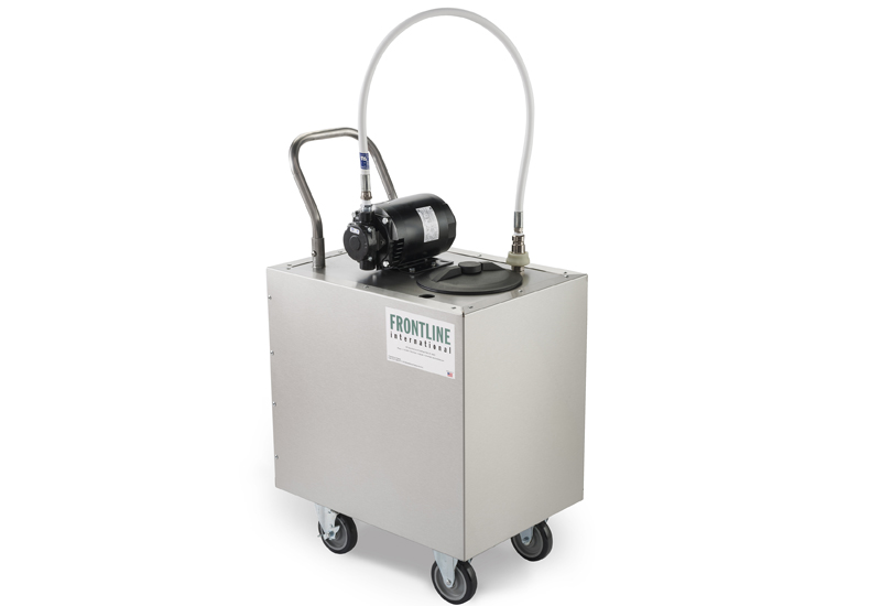 Frontline mobile oil containment tank
