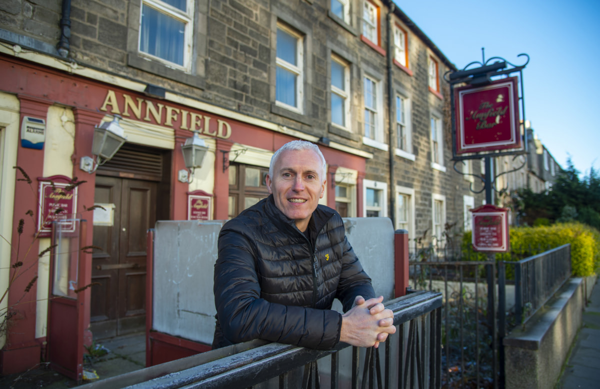 Brian Davidson, regional operations director outside The Annfield, Edinburgh