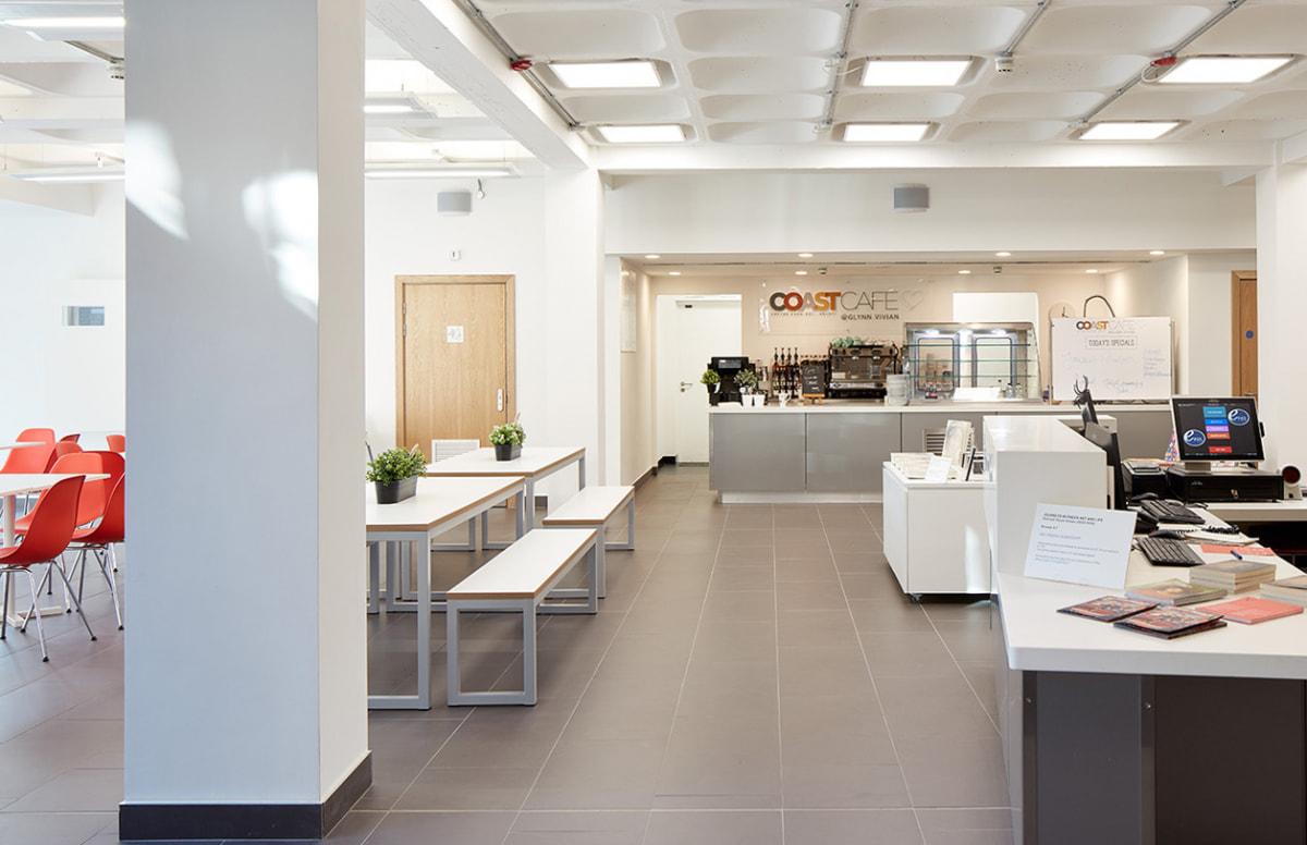 The Glynn Vivian Art Gallery cafe area, Swansea council