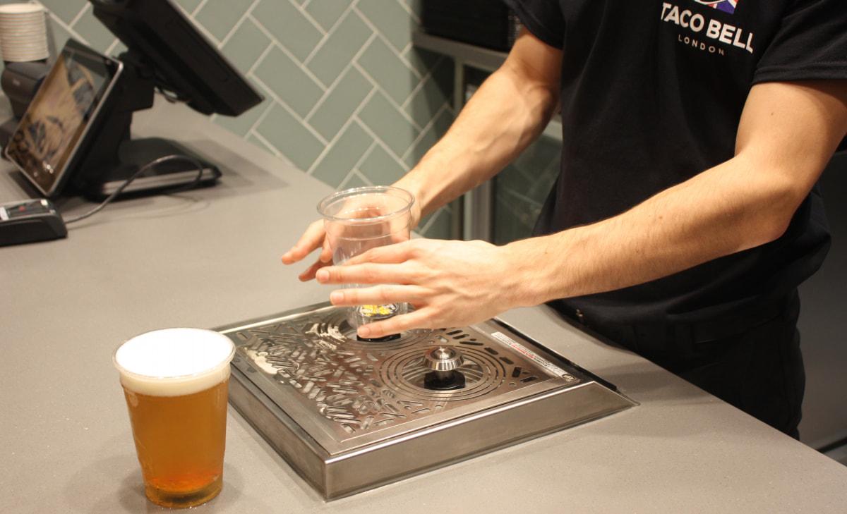 Bottoms Up beer dispenser