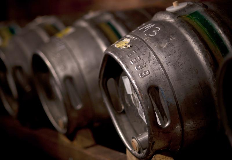 Greene King beer barrels