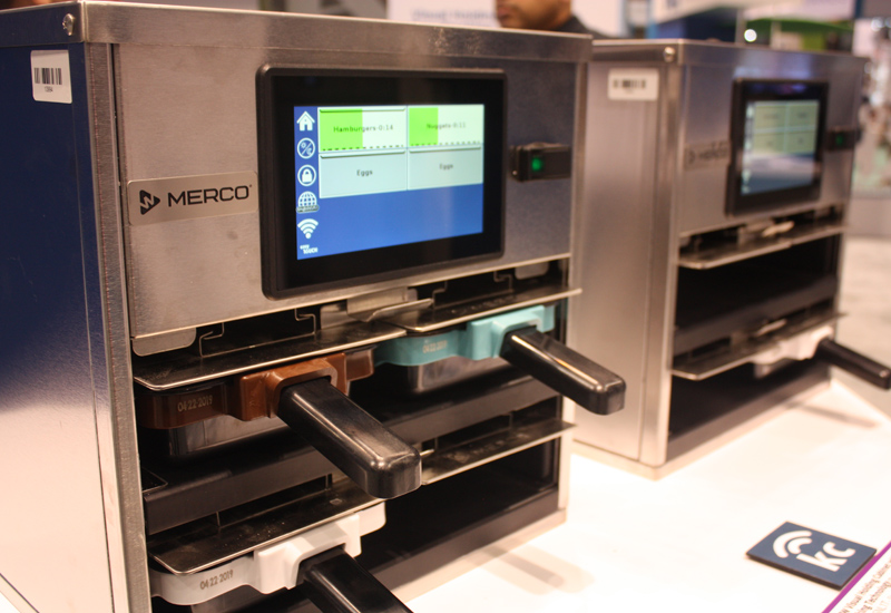 Merco visual holding cabinet with tray tracking