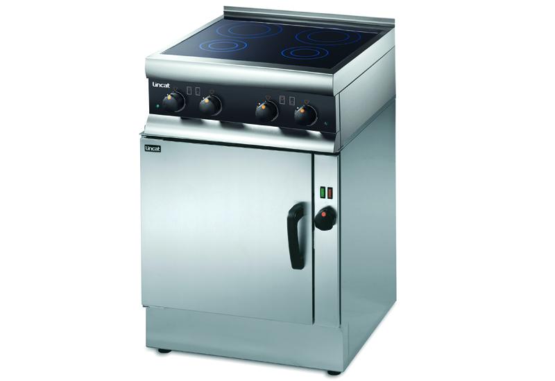 V6 oven with SLI induction hobs