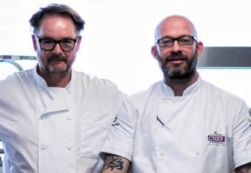 Andrew Dargue, chef, Vanilla Black, with Pete Redman, chef director, Bartlett Mitchell